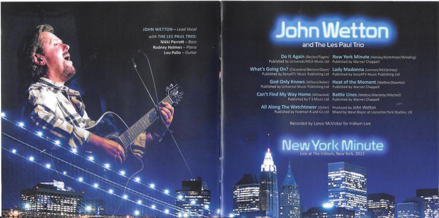 John Wetton - New York Minute - credits