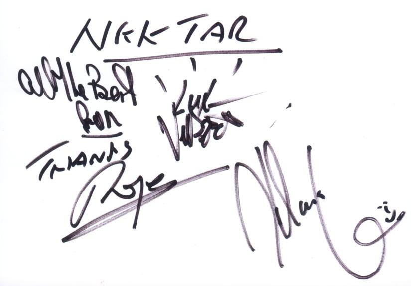 Nektar - autographs