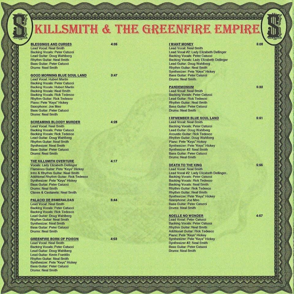 Neal Smith - KillSmith And The Greenfire Empire - credits
