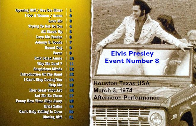Elvis Presley - Event Number 8 - backing (text)