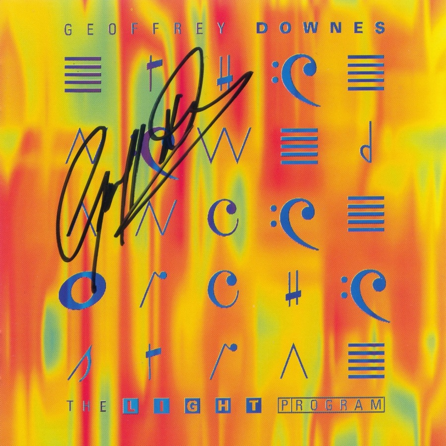 Geoffrey Downes - The Light Program - in person autograph