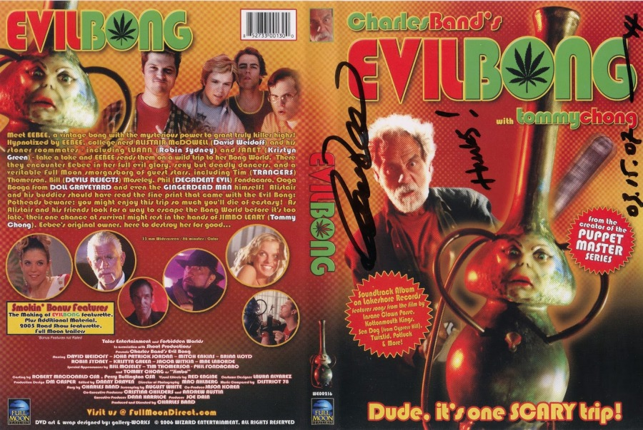 Evil Bong - cover - autographed by Charles Band