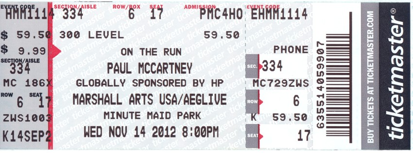 Paul McCartney - 14 Nov 2012