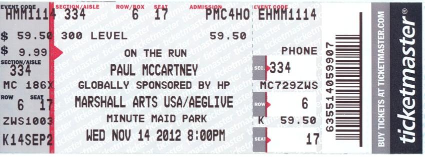 Paul McCartney - 14 Nov 2012
