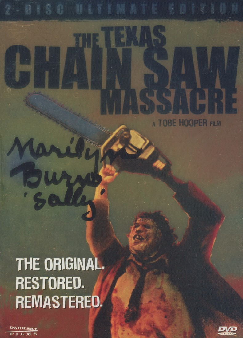 Marilyn Burns - The Texas Chainsaw Massacre DVD_Tin Case (In Person Signature)