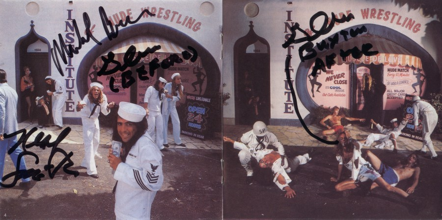 Alice Cooper - Muscle Of Love - in person autograph - Bruce_Buxton_Smith - center of booklet