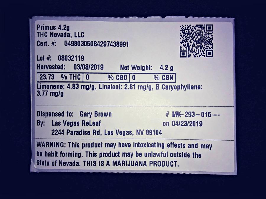 Las Vegas ReLeaf - Primus Sticker (2019 05 02)_(212325)