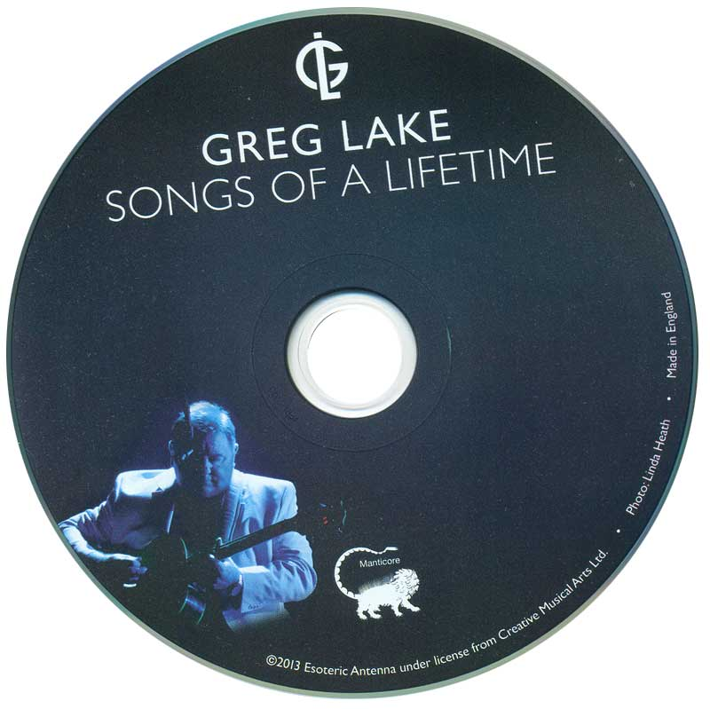 Greg Lake - Songs Of A Lifetime - actual disc